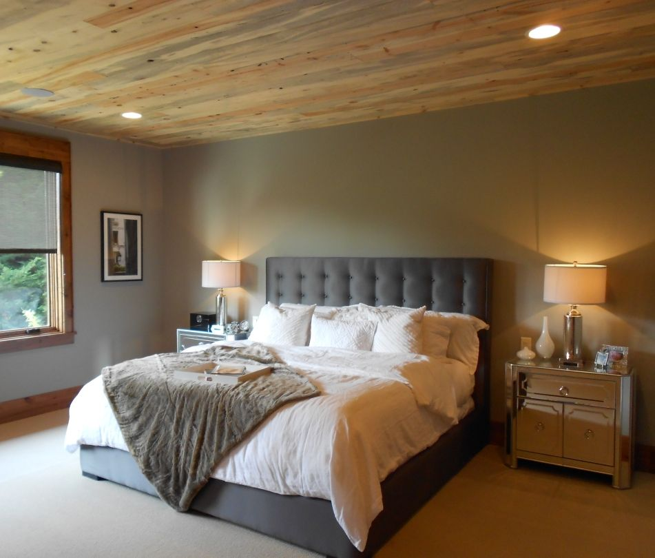 Rustic Chic Blue Pine Ceiling Treatment From Sustainable