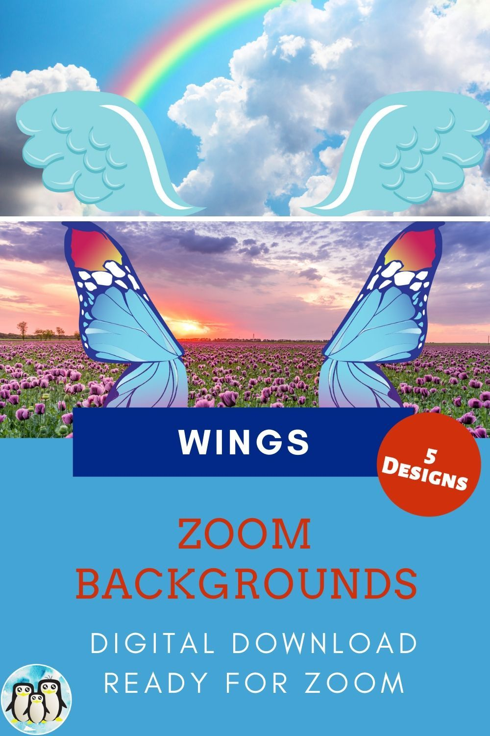 Zoom Virtual Background Bundle Of 5 Wings Inspired Designs Zoom Background Virtual Background Video Conference Backgrounds Cute Gifts For Friends Background Baby Shower Gender Reveal