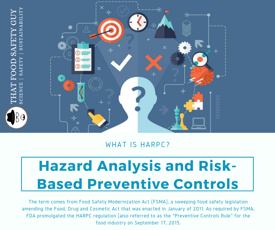 What Is Hazard Analysis And Risk Based Preventive Controls Food Safety Hazard Analysis Thirsty Thursday