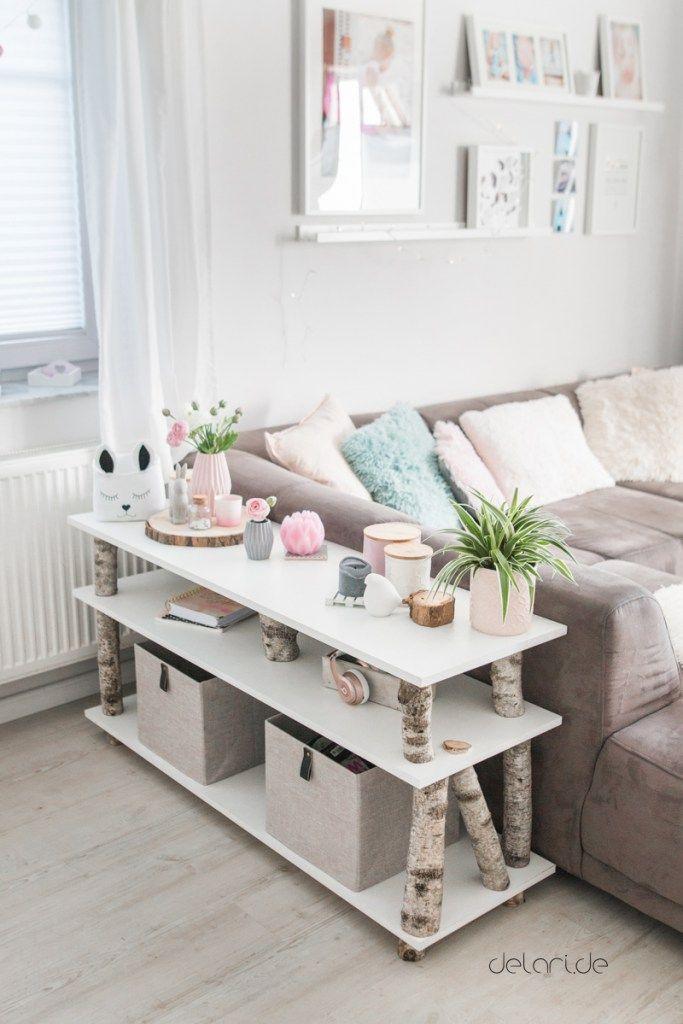 BirkenBaumRegal DIY fr unter 40  Wohnzimmer  DIY  Wohnzimmer in 2018  Pinterest