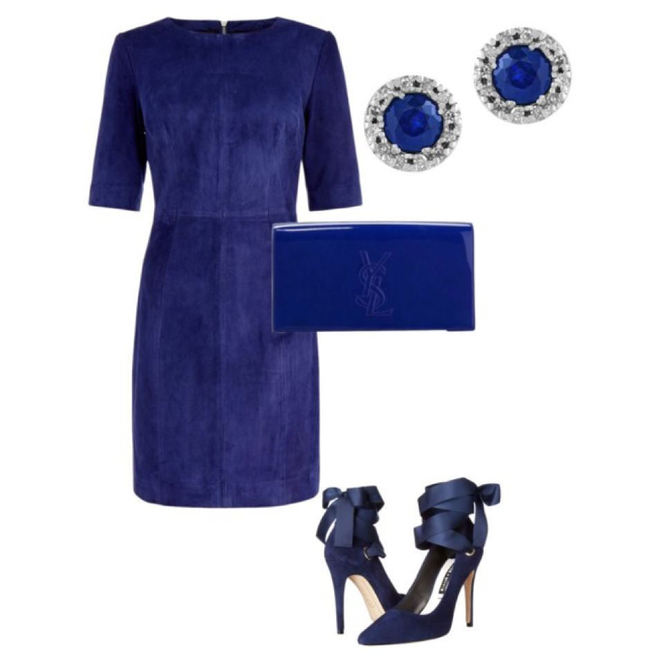 The blue wedding guest blue suede shoes blue suede and short