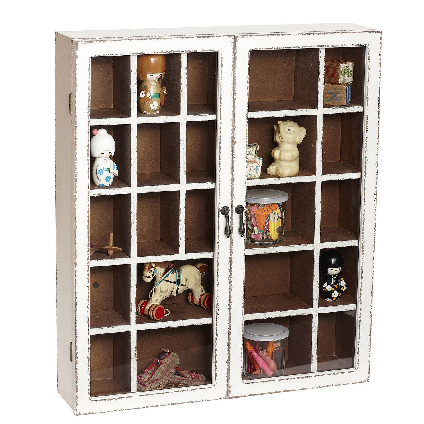 Best Wood Cabinet For Wallhanging Antique White Achica 400 x 300