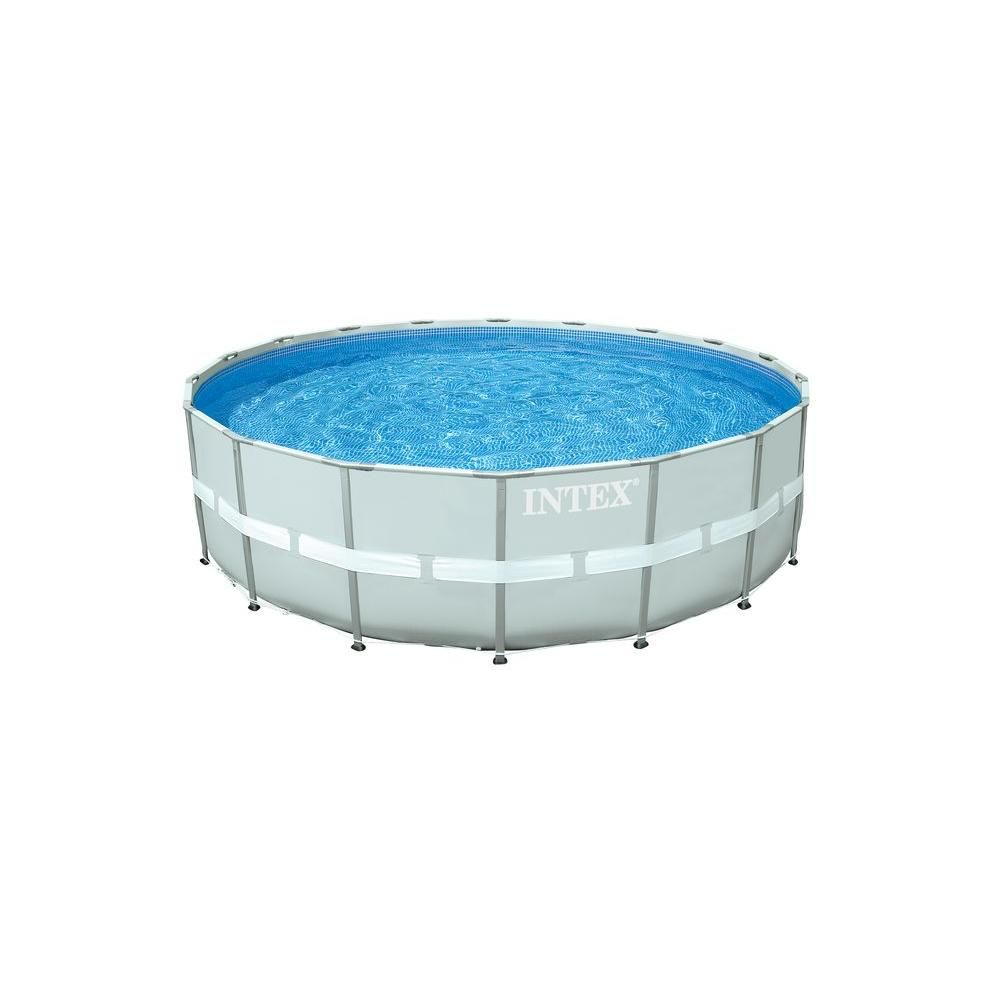 18 ft. Round x 52 in. Deep Ultra Frame Pool Set, Gray | Products ...