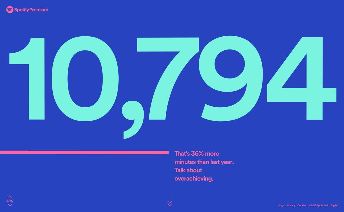 Spotify Wrapped 2018 Web Design Quotes Spotify Design Web Design Trends