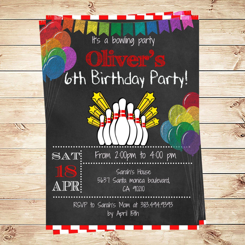 Bowling Einladung Vorlage Kostenlos | Geburtstag Einladung ...