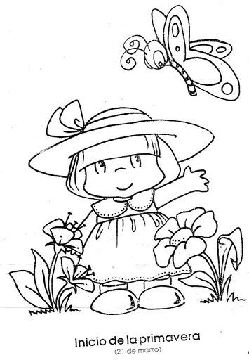 Coloriages printemps 307 coloriage pinterest - Dessin de printemps a imprimer ...