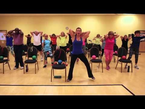 Zumba gold chair routine youtube chair pilates for Chair zumba
