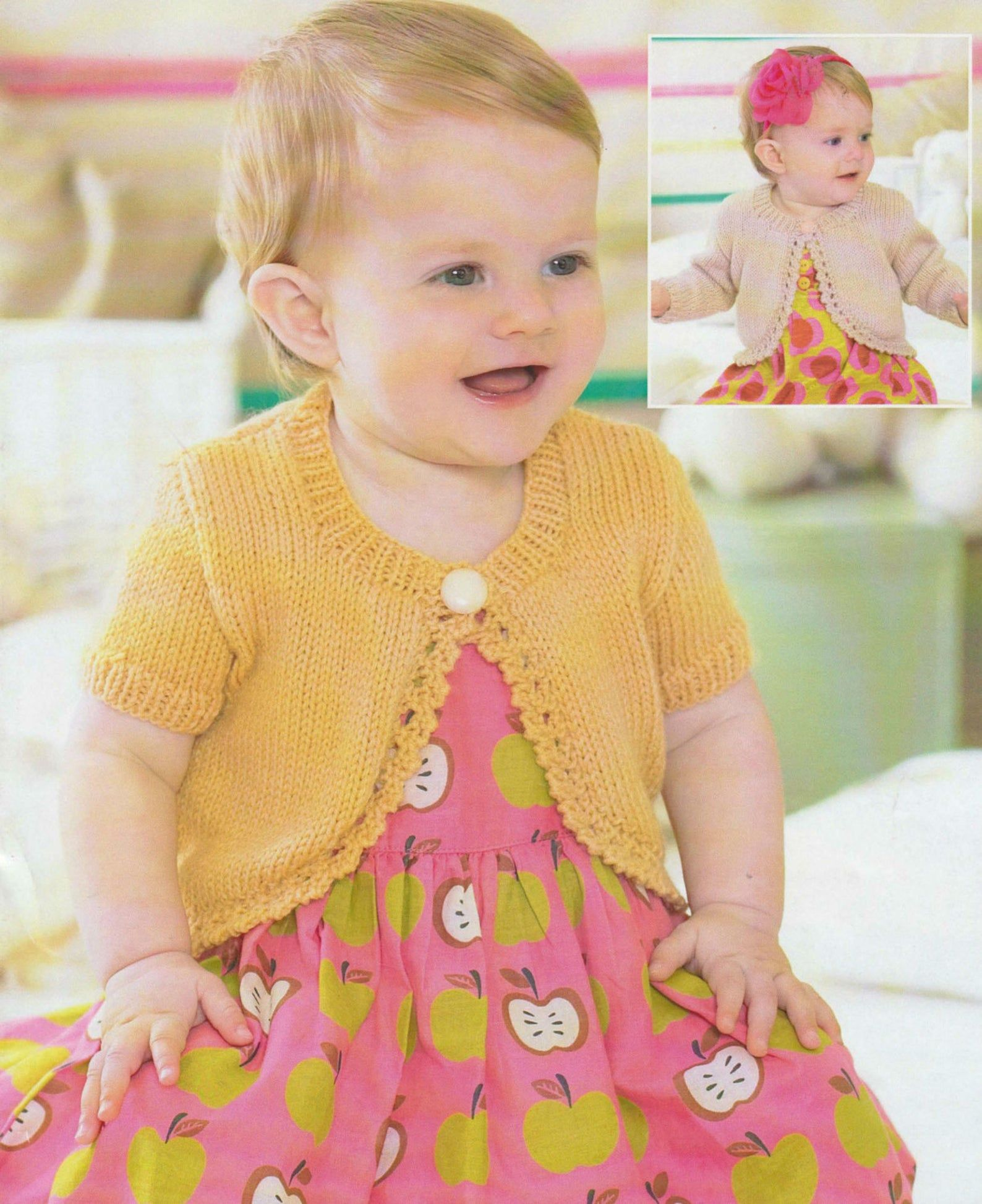 Vintage Knitting Pattern Childrens Bolero Size Newborn to ...