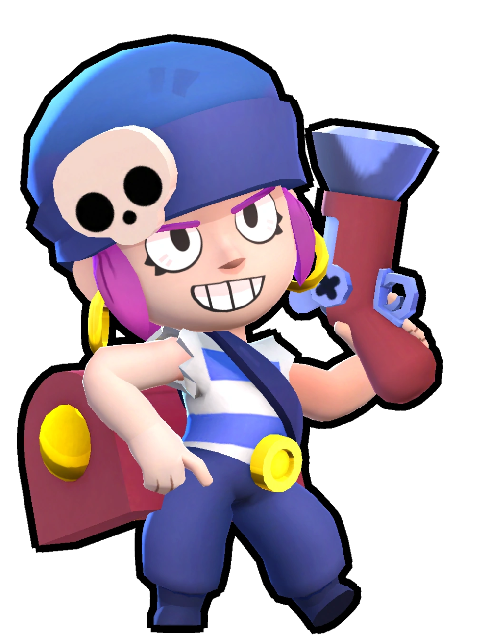 Penny Is A Super Rare Brawler Who Has Medium Health And Her Long Range Attack Can Hit Enemies Behind The Original Ta Brawl Star Character Game Character Design