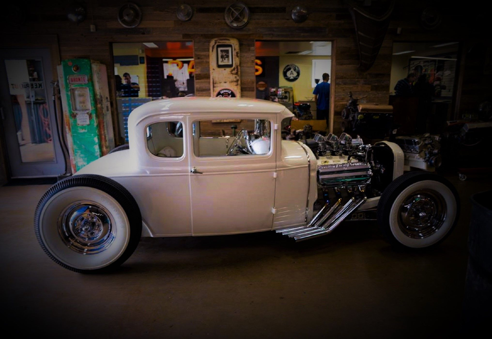 Paul teutul senior s white beauty 1931 model a ford hot rod built by