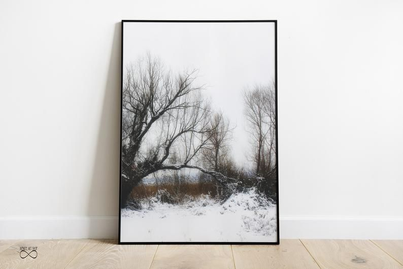 Snow Print Sets Of 2winter Trees Branchessnow Wall Etsy Photography Prints Art Nature Wall Art Nature Wall