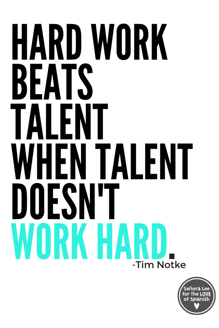 Spanish Poster HARD WORK Hard work quotes, Work quotes