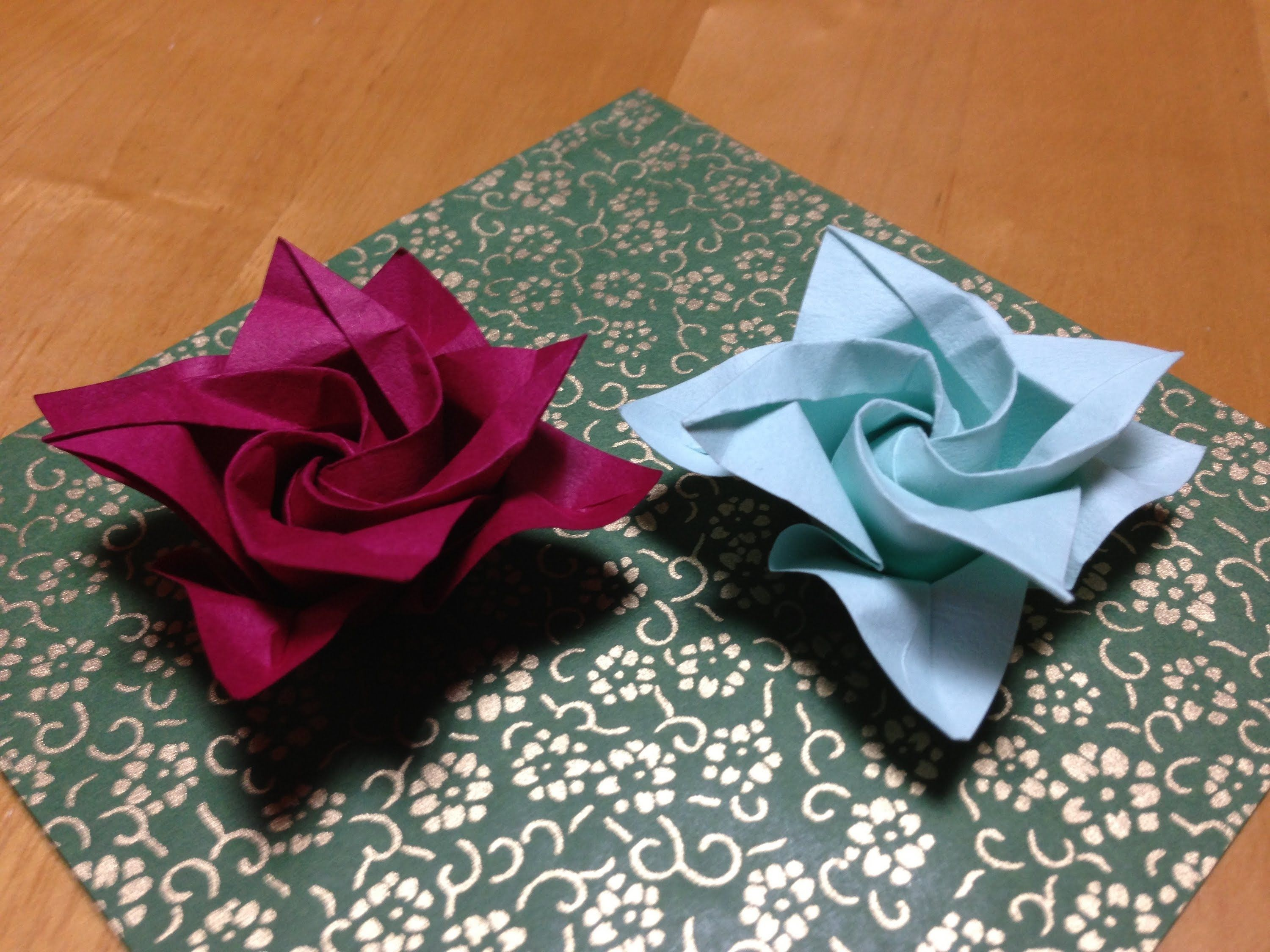 05 Double Helix Origami Rose 05 Origammi