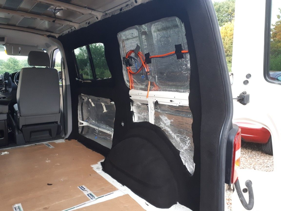Vw t5 carpet lining and insulation in progress | Awesome