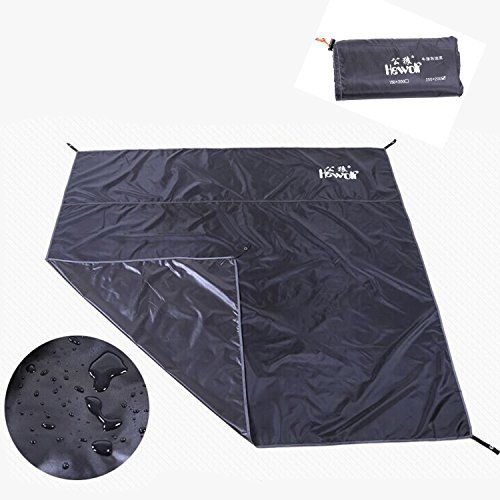 Hewolf Moisture Proof Tent Footprint Waterproof Index 10000mm for Camping Sand Beach Groundsheet Black Large size 34 men 766746 in ** You can get additional details at the image link. This is an Amazon Affiliate links.
