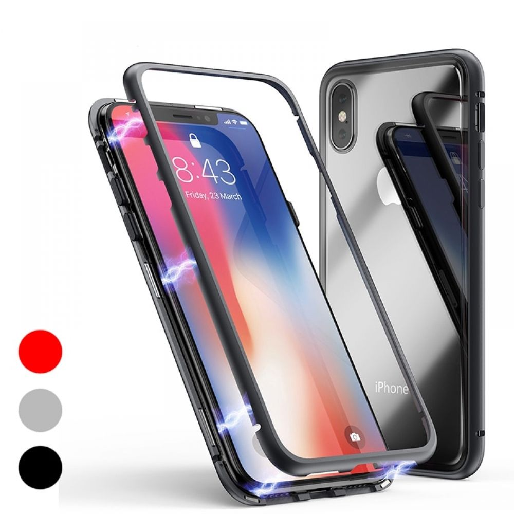 Glass adsorption phone case for iphone xr xs max
