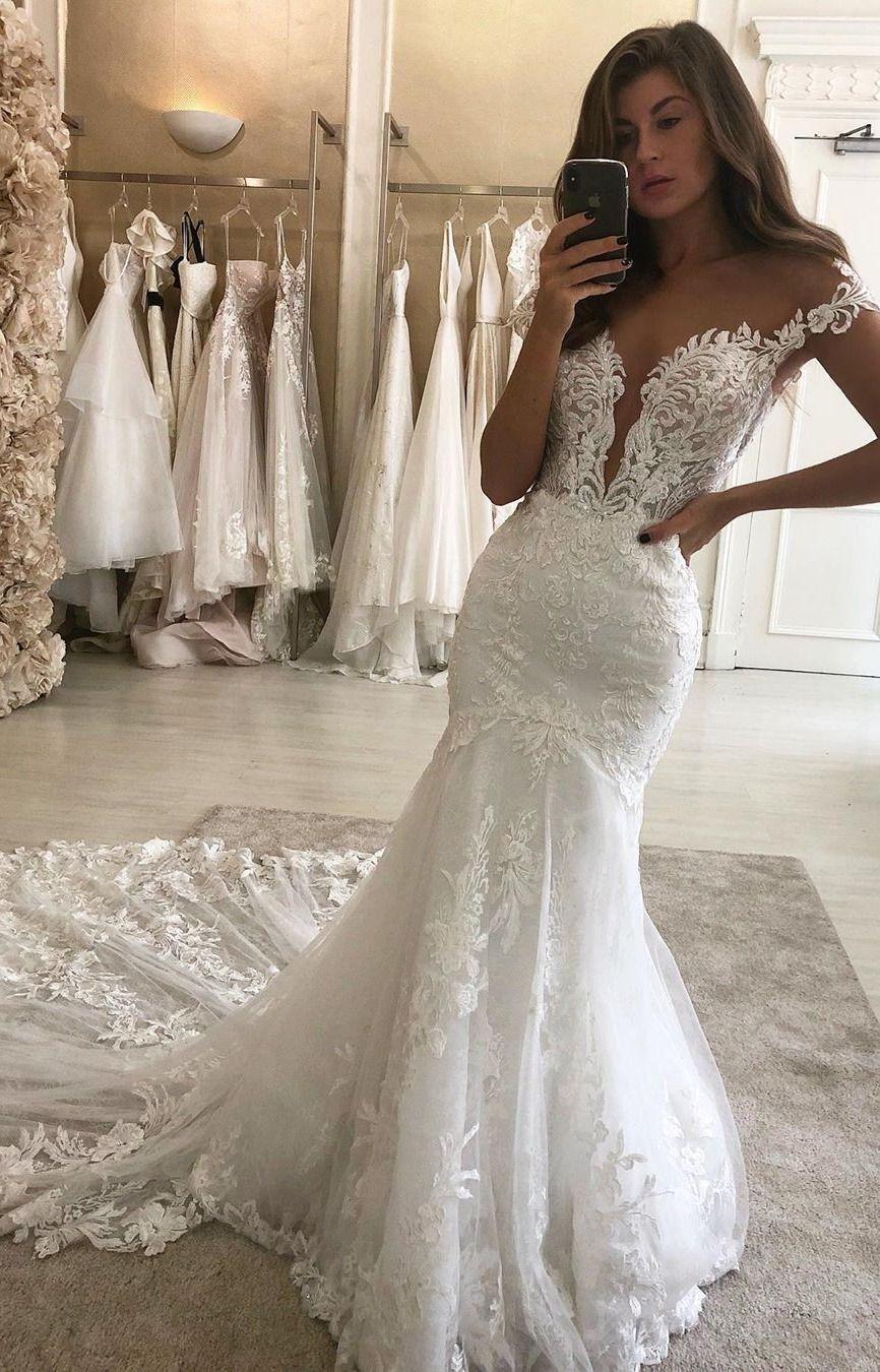 Eleganza Sposa Wedding Dresses 2021 Dream Wedding Dress Lace Lace Wedding Dress Vintage Short Lace Wedding Dress [ 1350 x 866 Pixel ]
