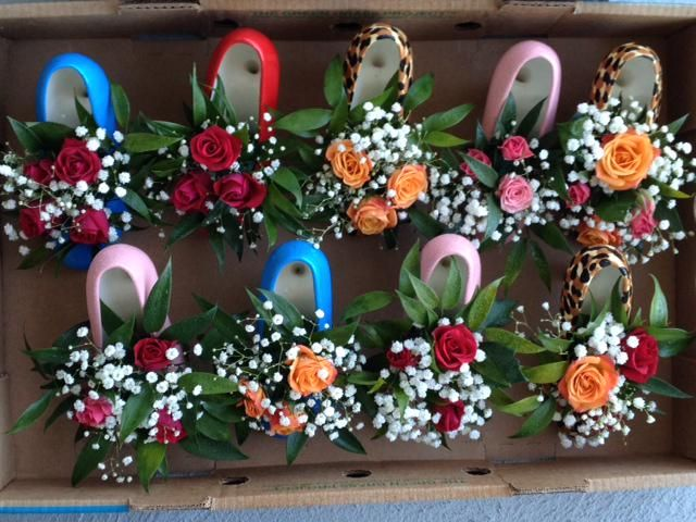 Ceramic stiletto high heel shoe vase. Centerpiece for Weddings & Bridal  Showers. http: - High Heel Vase On Vase Centerpieces, Centerpieces And Weddings