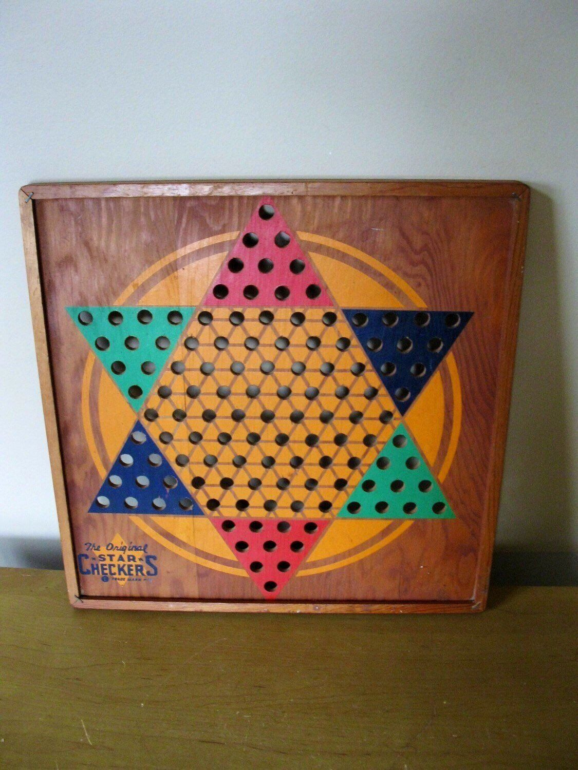 vintage chinese checkers game board 1938 star checkers l g