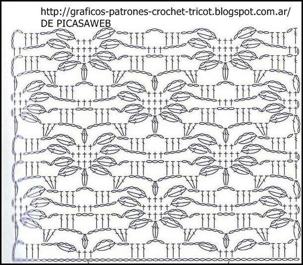 Puntada crochet.   Crochet puntadas y tutoriales   Pinterest ...