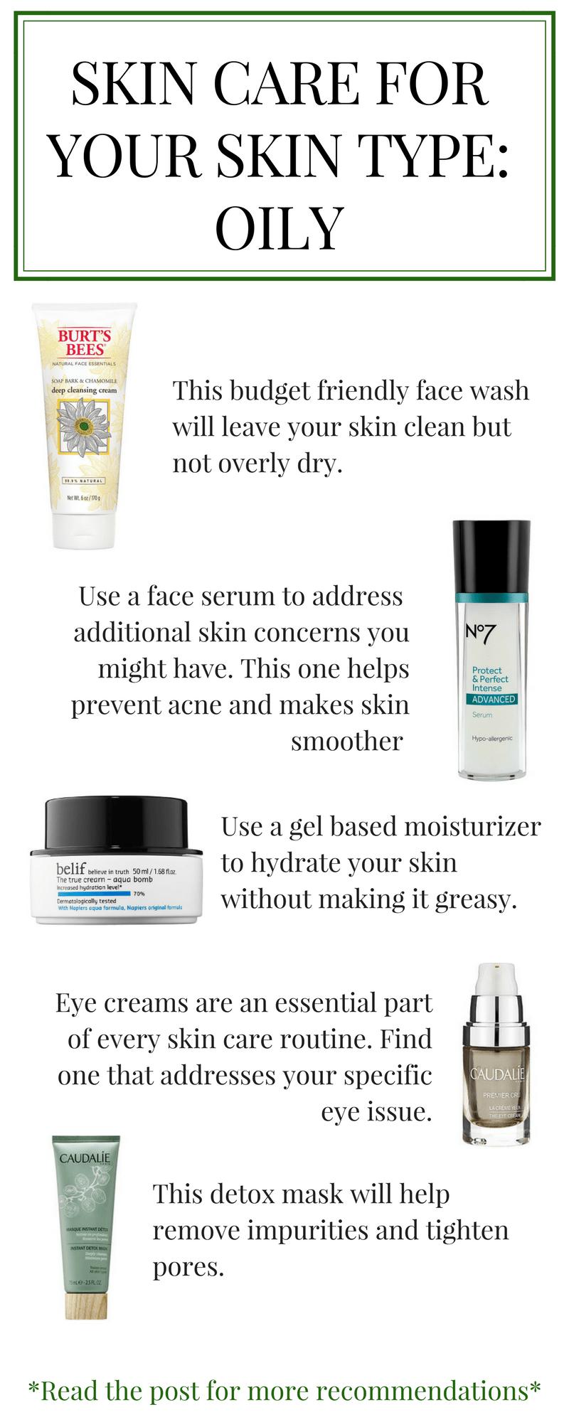 Skin Care For Your Skin Type Oily Oily Skin Skin Care Skin Care Secrets