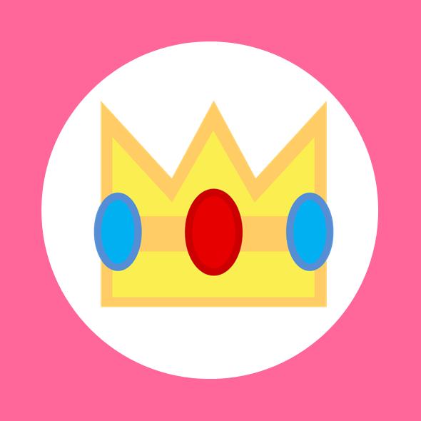 Princess Peach Kart Flag by RafaelMartins