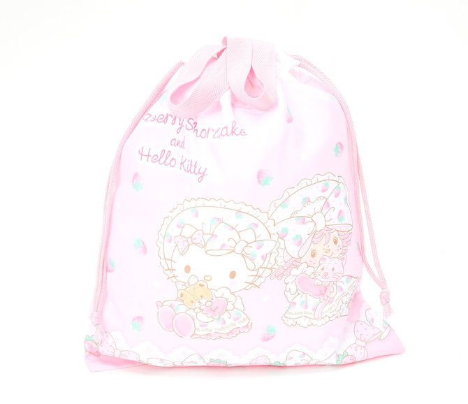 Hello Kitty x Strawberry Shortcake Drawstring Tote Bag  0807495c892ed