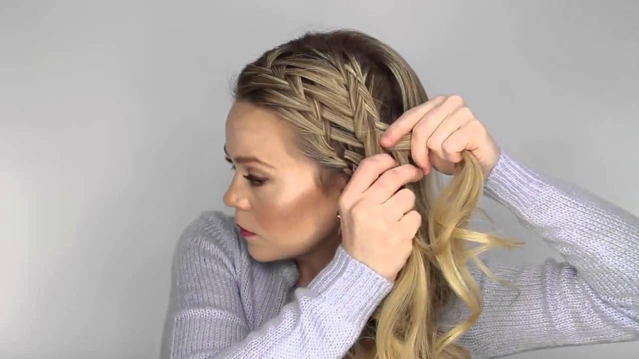 Плетение кос самой себе видео уроки