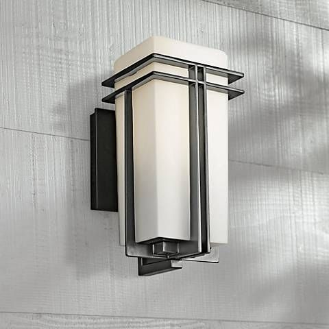 tremillo collection black 12 high outdoor wall light outdoor