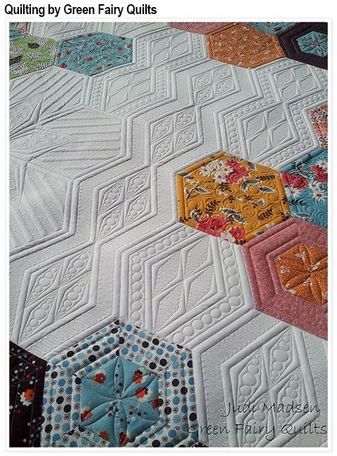 Science Fair pattern by Jaybird Quilts - quilted by Green Fairy Quilts