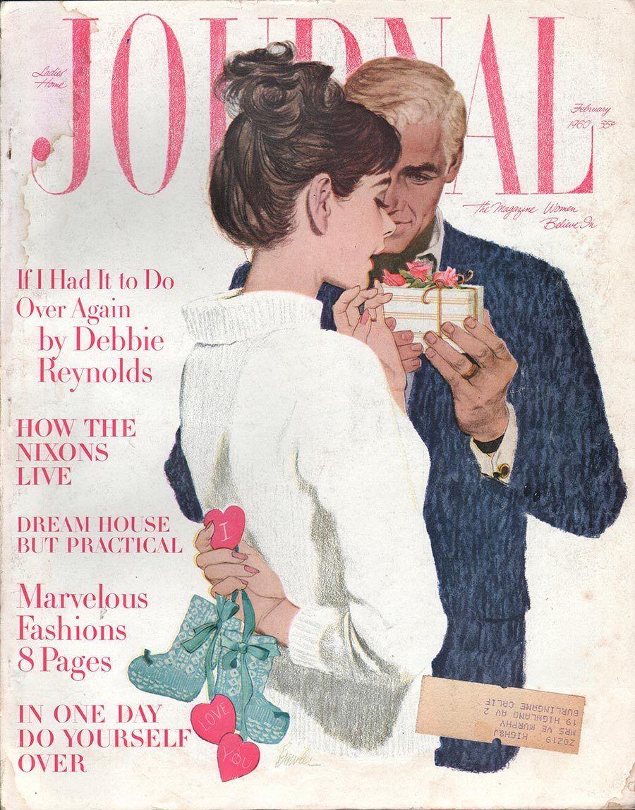 Ladies Home Journal February 1960 Ephemera Forever Lifestyle Illustration Bowler Magazine Cover