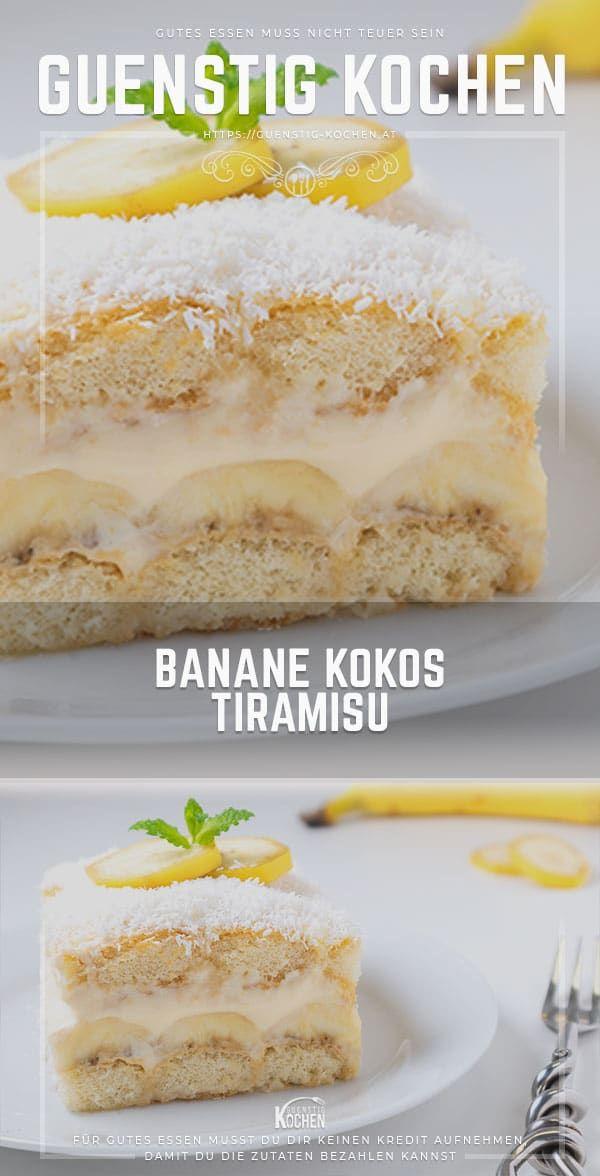 Banane Kokos Tiramisu #recipesforshrimp