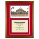 Stanford University Palo Alto California Diploma Frame with Art PrintBy Old School Diploma Frame Co.