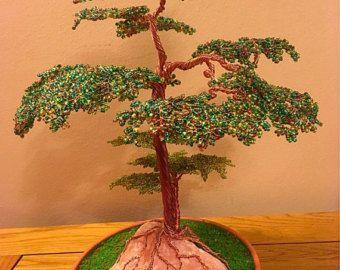 Árbol del dinero oro alambre árbol escultura por Inkscraft en Etsy