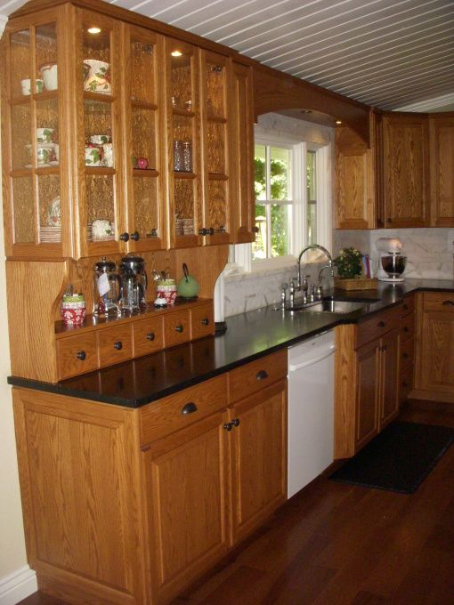 All Wood With Dark Counter Top Diy Countertops Cheap