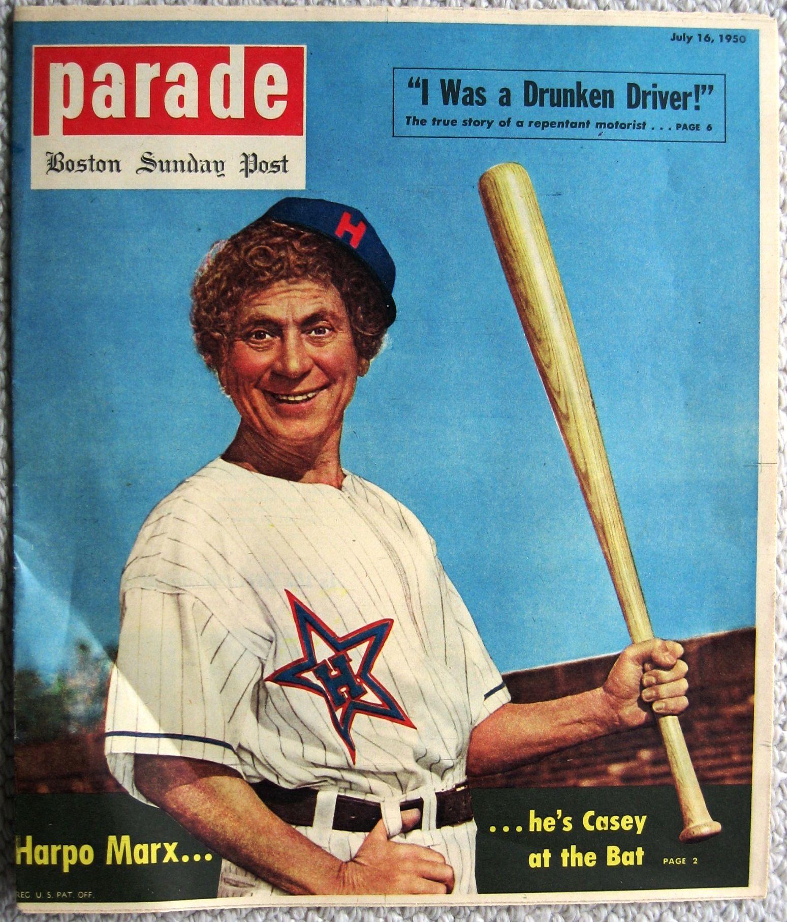 Harpo Marx Parade Magazine He S Casey At The Bat From