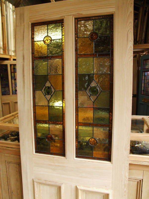 Half Glazed Stained Glass Front Door Front Doors Pinterest