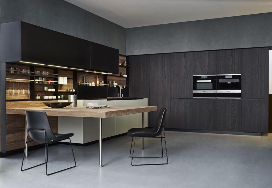 Varenna cucina phoenix piano penisola in rovere spessart mi casa pinterest interiors - Cucina a elle ...