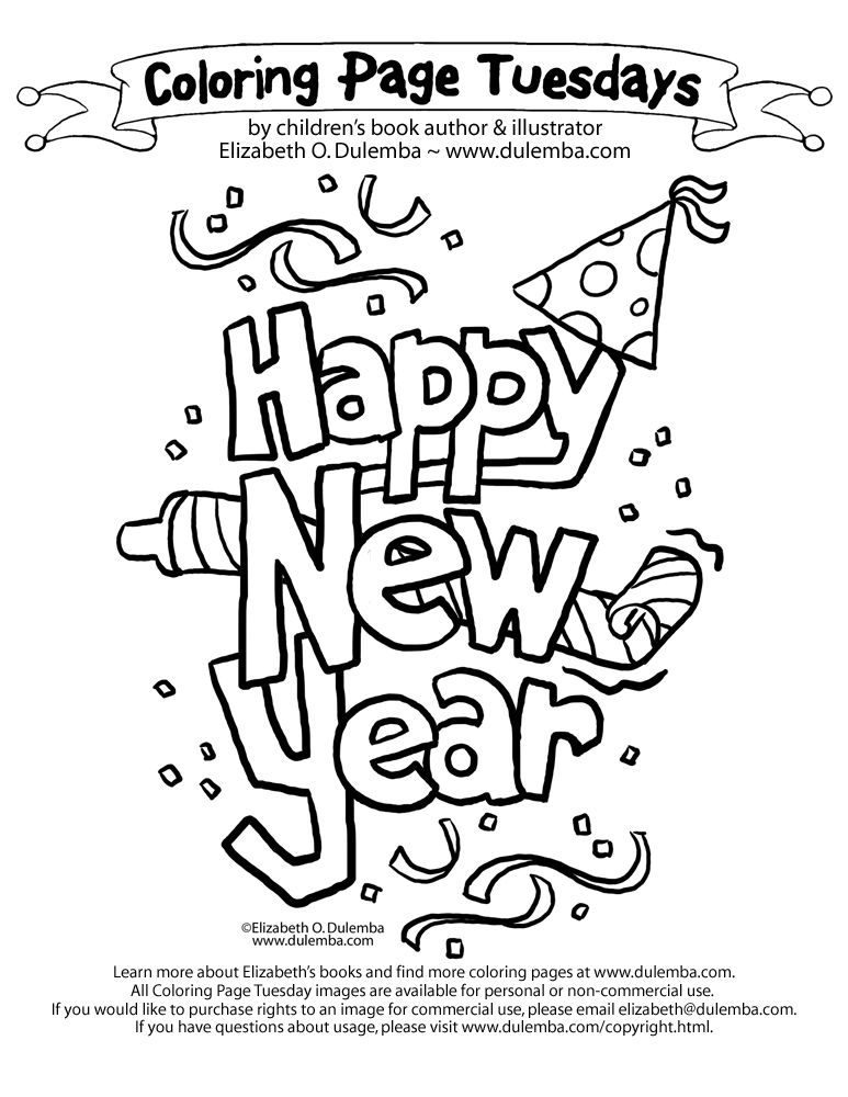 Happy New Year Coloring Page Generator Taken
