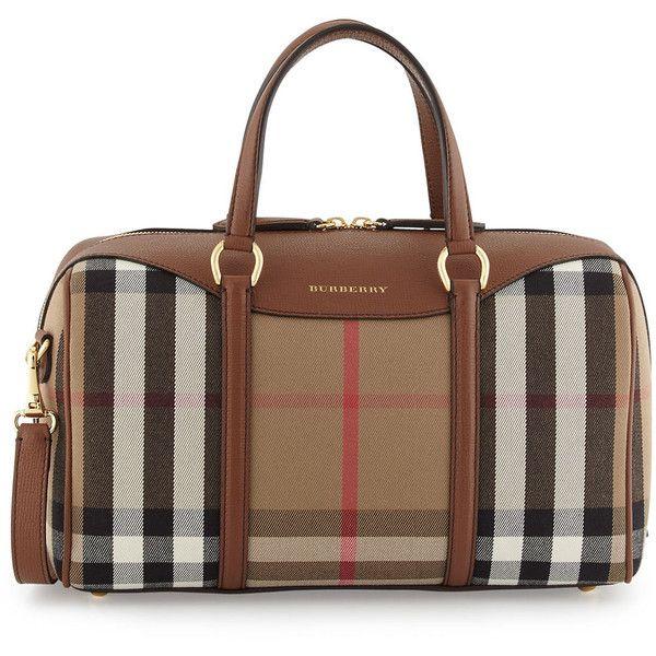 6a4ca6d118f8 Burberry Alchester House Check Medium Derby Satchel Bag ( 1
