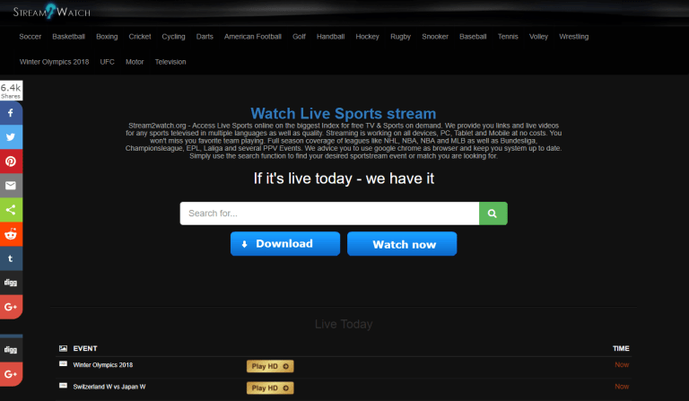 Stream2watch Org In 2020 Live Football Streaming Football Streaming Live Football Match