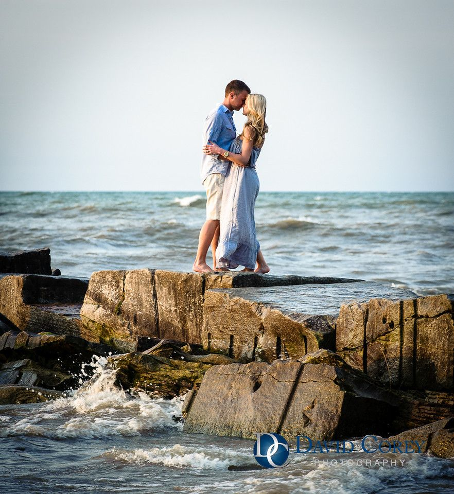 Huntington Beach Cleveland Ohio Engagement Shoot David Corey Photography