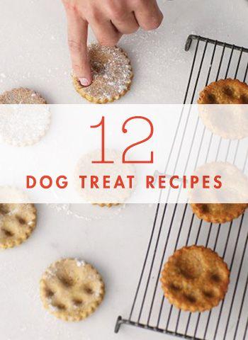 12 Recipes for Homemade Dog Treats Dog Gift and Doggies