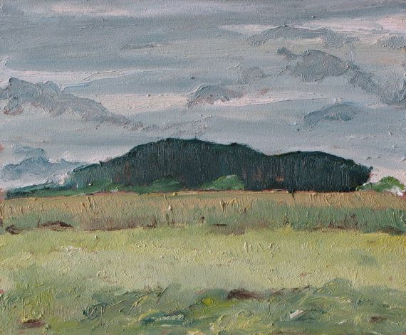 http://francoisfournierart.com/  This painting depicts a small forest growing on a field of the Eastern Townships in the appalachians of Quebec, Canada. Art Original Oil Painting Plein Landscape by Fournierpainter, $100.00