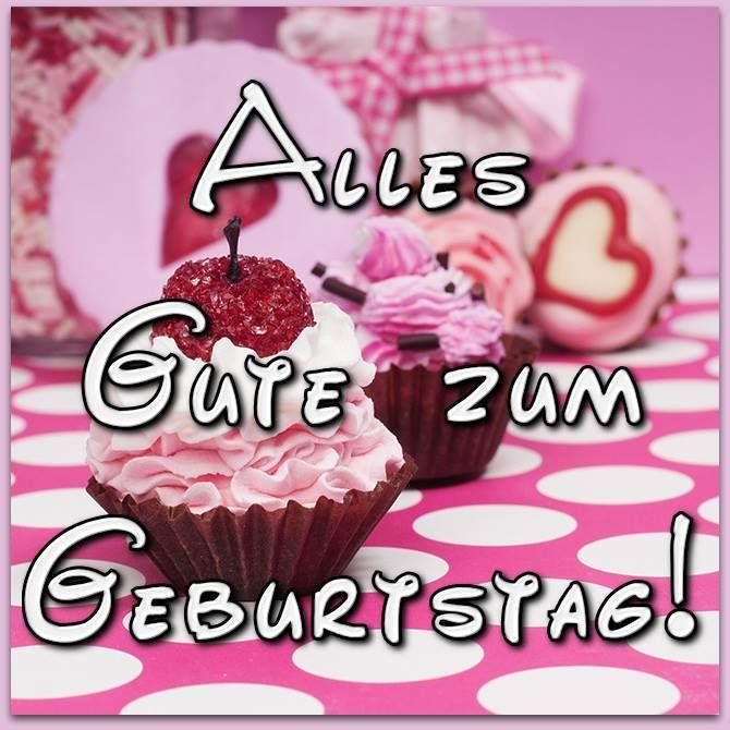Bild Mit Sussen Rosa Cupcakes Alles Gute Zum Geburtstag