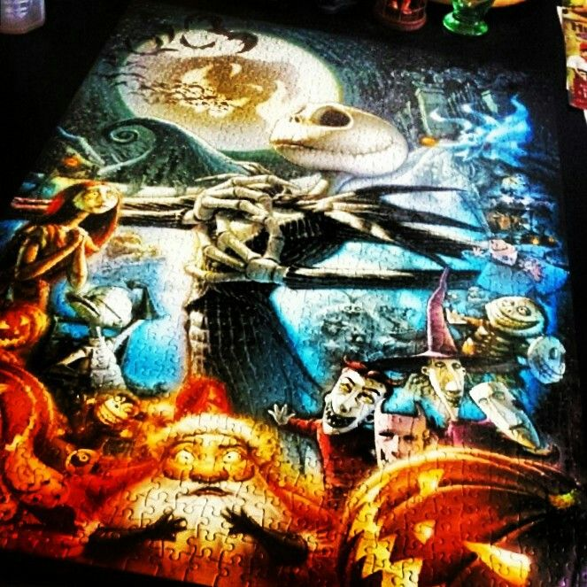 the nightmare before christmas puzzle i want this one jack and sally