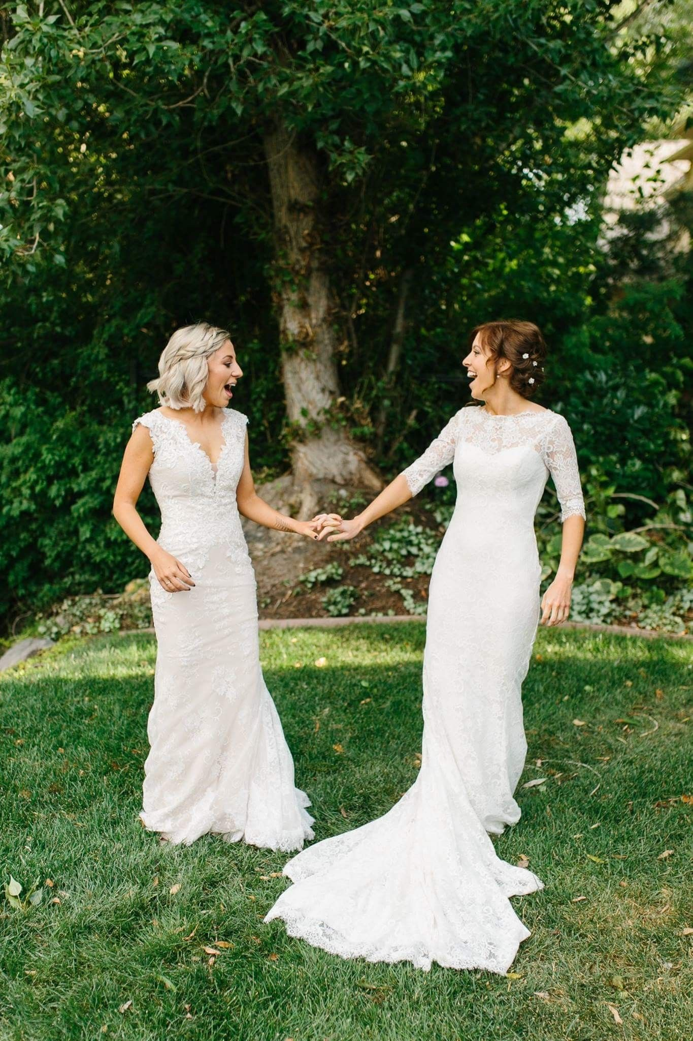 Two brides Aimee Olsen Photography