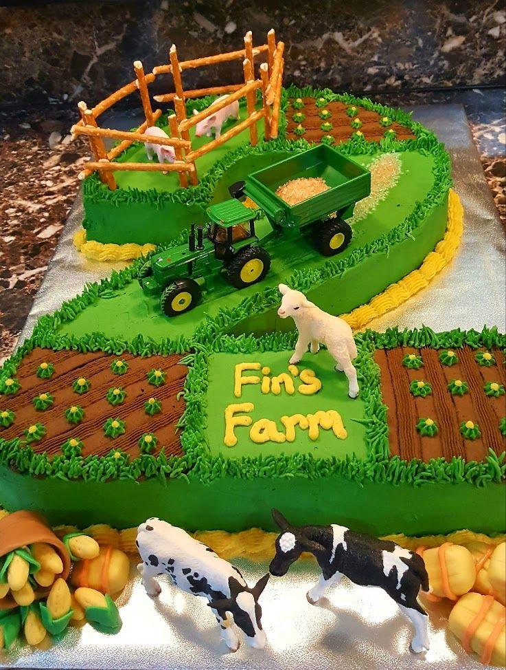 Made This For A Friend Of Mine Traktor Geburtstagskuchen Zahl Geburtstagstorten Und Geburtstag Auf Dem Bauernhof