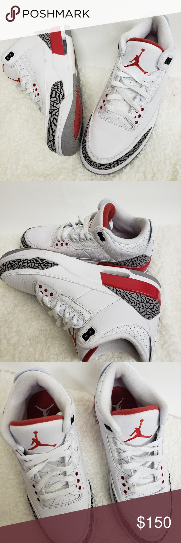 ac3b462a5ea0 Air Jordan retro 3 Katrina s size 9.5 These are Air Jordan 3 Katrina s in  almost perfect condition. The right shoe has a small blemish on the right  side of ...