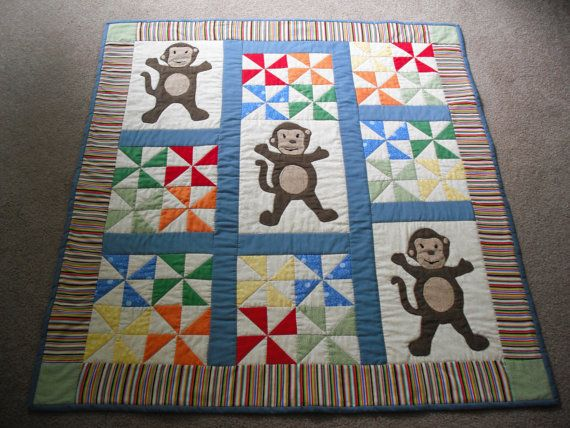 Adorable Monkey Madness Baby Quilt / by mousessewingroom on Etsy ... : monkey quilt pattern - Adamdwight.com